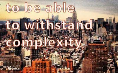 We have to be able to withstand complexity